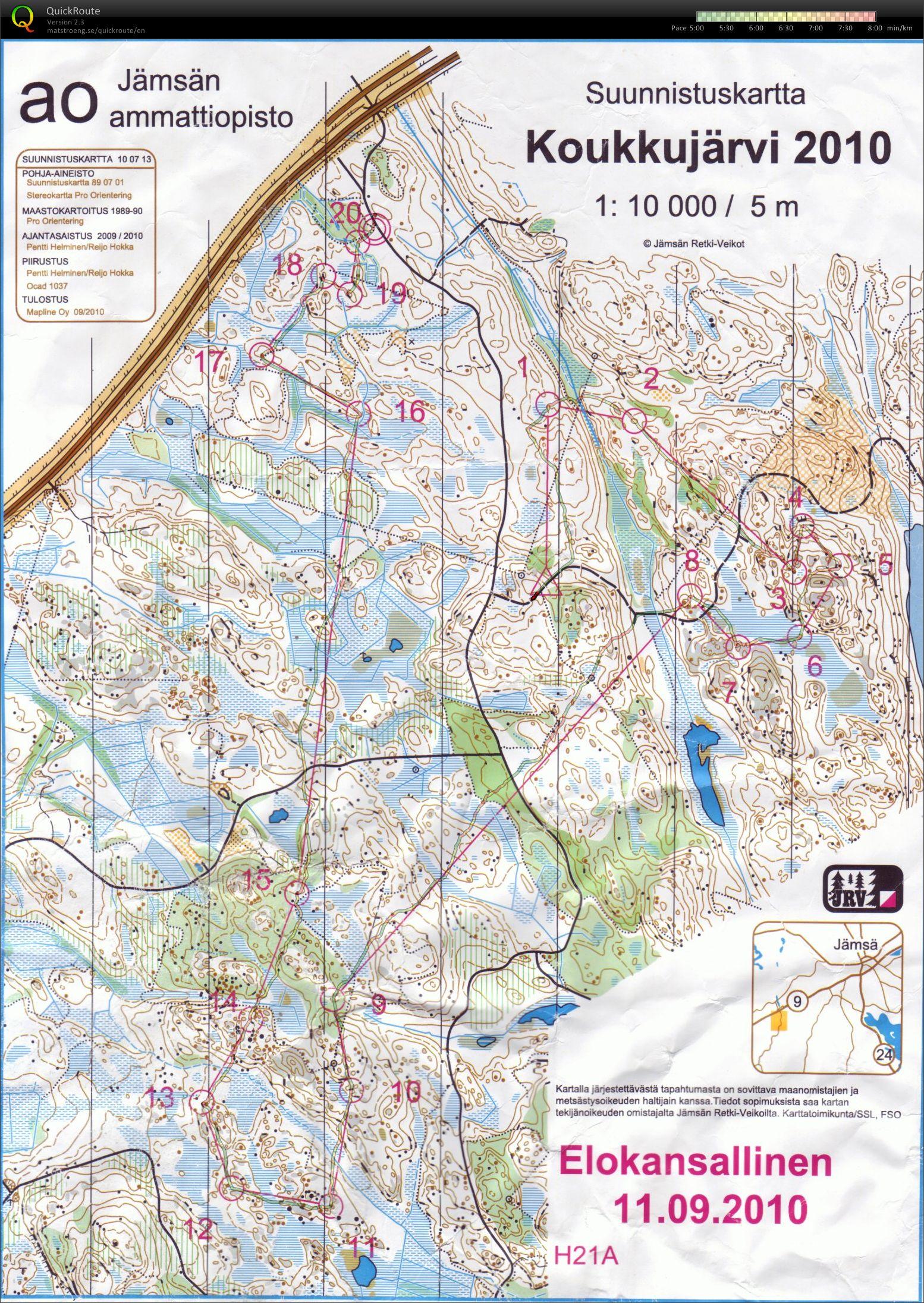 My digital orienteering map archive Elokansallinen 11092010